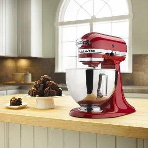 $179.99黒五价:KitchenAid 4.5夸特立式搅拌机 红色/银色