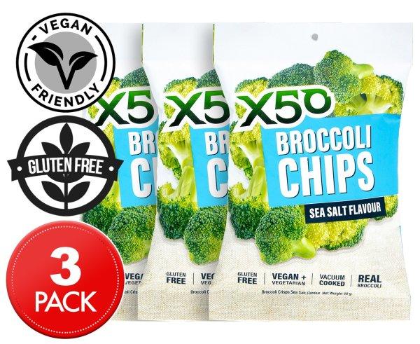 3 x X50 西兰花片海盐味 60g