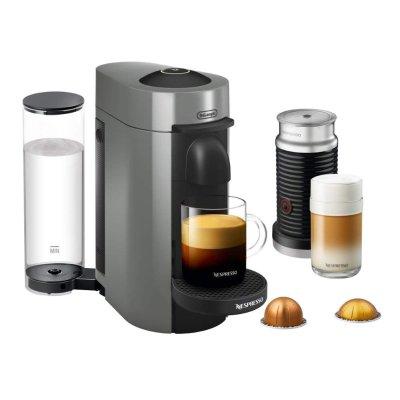Nespresso ENV150GYAE VertuoPlus Coffee and Espresso Machine Bundle with Aeroccino Milk Frother by De'Longhi