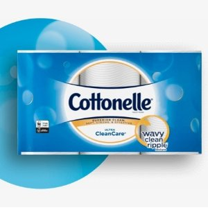 $12.33(原价$15.99)Cottonelle Ultra 超清洁卫生厕纸  12卷 340张  3倍厚度