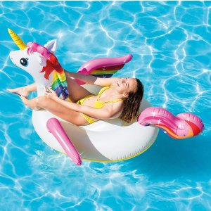 As Low As $5.61Intex Unicorn Inflatable Ride-On Pool Float