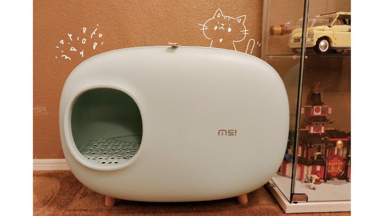 一眼就让人心动的高颜值高功能猫砂盆