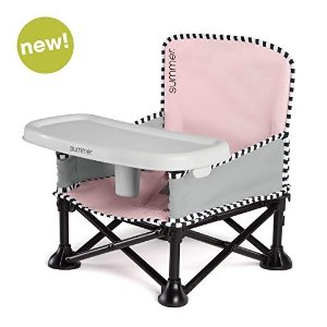 Summer InfantSummer Pop 'n Sit SE Booster Chair (Sweetlife Edition), Bubble Gum