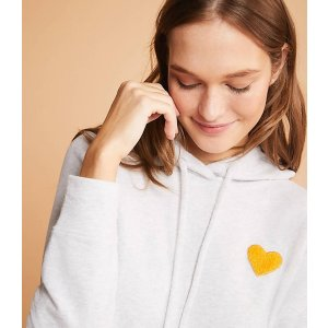 LOU & GREY Conscious Cotton Heart Patch Hoodie