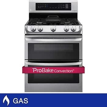 LG 6.9 cu. ft. GAS Double Oven with ProBake Convection and UltraHeat