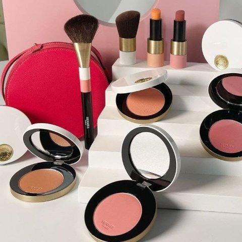 $49起 全球首发!上新:Hermes 玫瑰限定彩妆来了!绝美设计 奶乎乎的桃粉系列