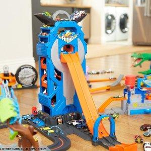 $29.99史低价:Hot Wheels 摩天轮停车场玩具,可收纳35+辆车