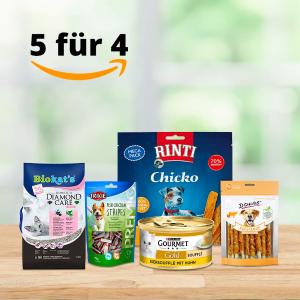 变相8折 宠物牙膏€2.79Amazon 宠物用品专场 买5付4 猫狗粮、零食、家居、药品等