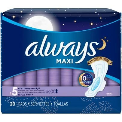 大容量 夜用卫生巾 Size 5 - 20片