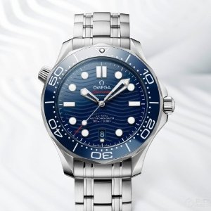 OmegaSeamaster Automatic Blue Dial Men's Steel Watch 210.30.42.20.03.001