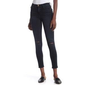 Frame DenimLe High Skinny Distressed Jeans