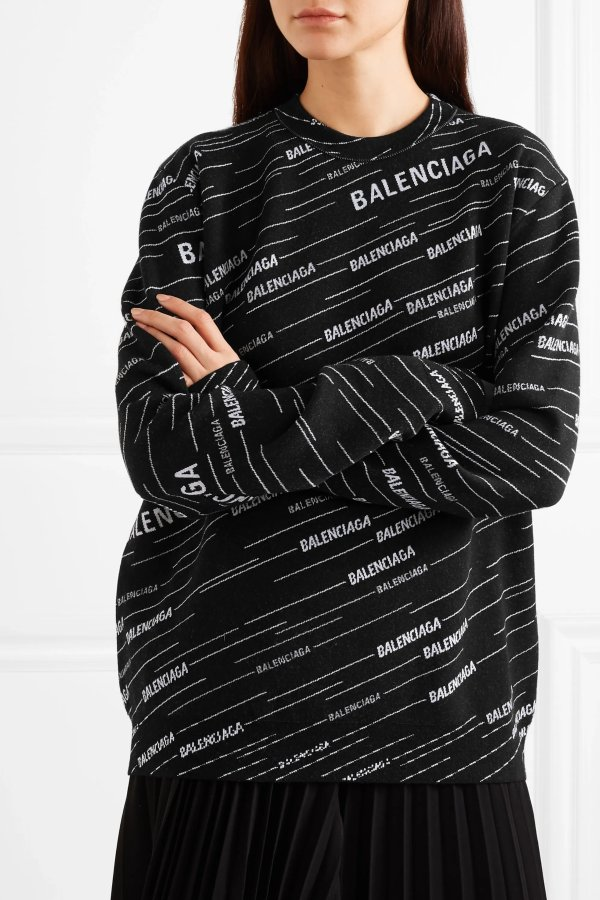 Intarsia wool-blend 毛衣
