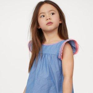 低至3折 多款降价折扣升级:H&M 儿童服饰、鞋履夏季大促