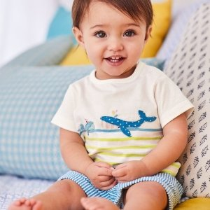 贴布绣T恤$7.5起 包邮无税折扣升级:Mini Boden官网 英伦高品质童装低至3折夏季清仓