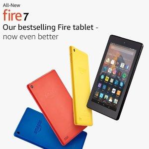 £29.99(原价£49.99)史低价:Amazon Fire 7英寸平板电脑 8 GB