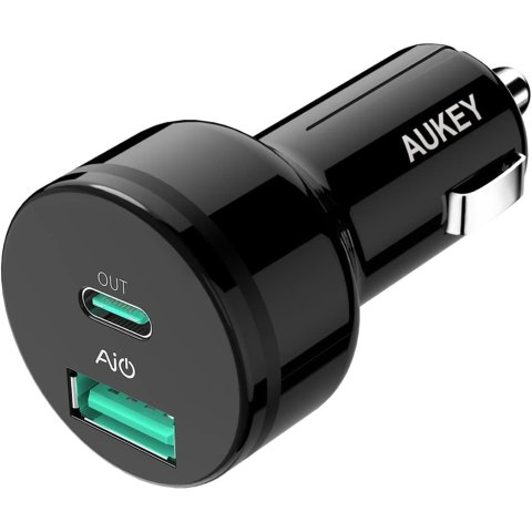 AUKEY 39W USB-C PD Car Charger