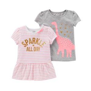 小童短袖T恤2件装