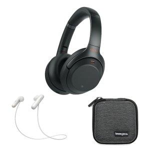 WH-1000XM3 降噪耳机 黑色 + WI-SP500 无线运动耳机 银色