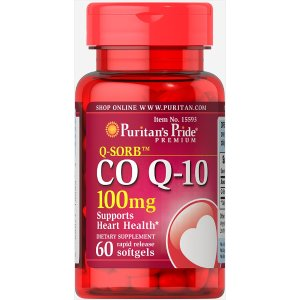 Puritan's PrideQ-SORB™ Co Q-10 100 mg 60 Softgels | Heart Health Supplements |