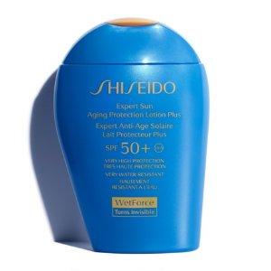 免邮到手¥283(专柜50ml售¥380)补货:Shiseido 新艳阳防护乳 SPF50+ 100ml*3瓶