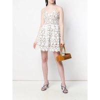 Self-Portrait floral lace吊带裙