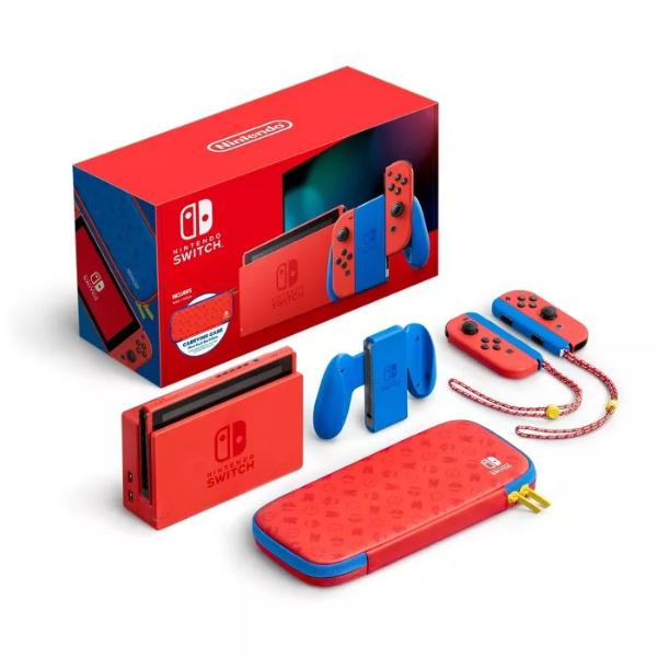 Switch Mario 红蓝版 主机套装 科技以XX为本