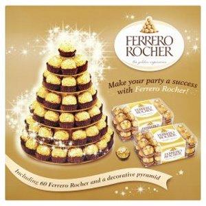 £15Ferrero Rocher 圣诞树装饰款(含60粒巧克力+1个装饰塔)
