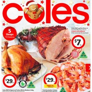 圣诞季囤货清单Coles 本周最新打折图表 (12月20日--12月26日)