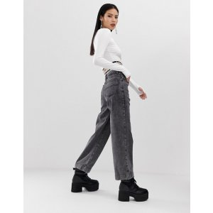 x007 wide leg jean in washed black | ASOS