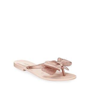 MelissaHarmonic Glittered PVC Bow Sandals