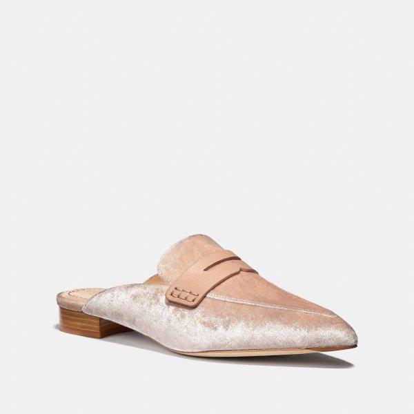 丝绒乐福鞋