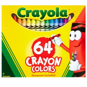 $5.88Crayola 蜡笔2盒,每盒64支