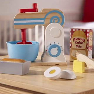 $14.99(原价$24.99)Melissa & Doug 木质烘焙蛋糕制作机玩具