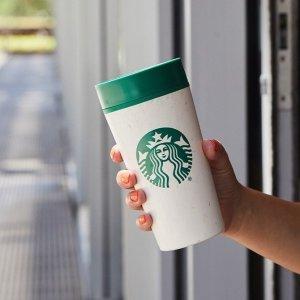 Enjoy $0.1discountStarbucks brings back personal reusable cups