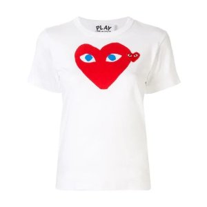 COMME DES GARCONS PLAY白色桃心T恤