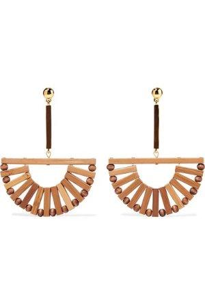 Cult Gaia Ark bamboo and gold-tone earrings
