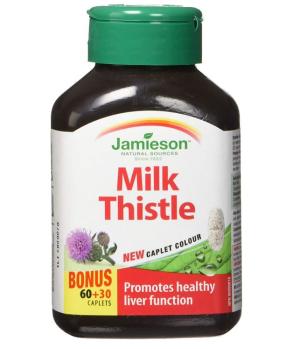 $11.39 (原价$19.78)Jamieson 水飞蓟护肝胶囊  保护肝脏健康