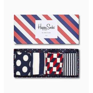 Happy Socks条纹袜 4套装