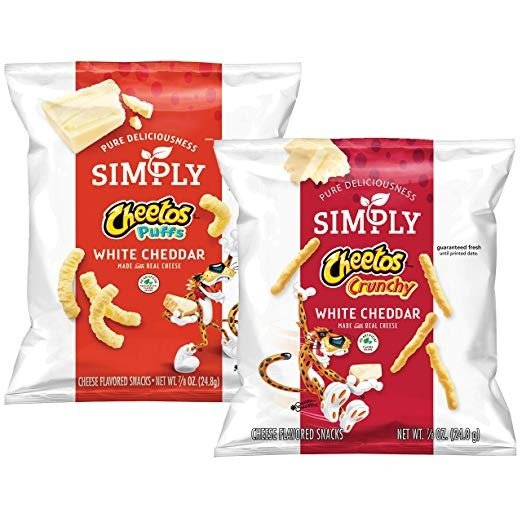 芝士味零食, 两种口感, 0.875oz, 36包