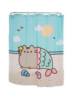 Amazon.com: Culture Fly Pusheen Mermaid Shower Curtain Standard: Home & Kitchen