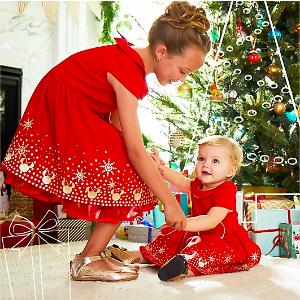 Disney女童节日款连身裙