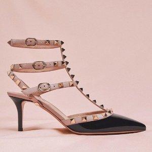 低至5折 断码中速抢Valentino 美包美鞋折扣热卖 多色铆钉鞋可选