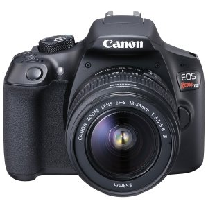 $299Canon EOS Rebel T6 w/ EF-S 18-55mm and 75-300 III Lens Refurbidshed