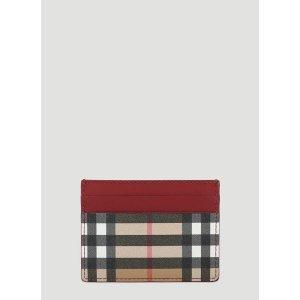 BurberryCrimson格纹卡包