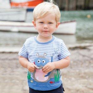 每件仅售$19 相当于6折起最后一天:JoJo Maman Bébé 婴幼童短袖T恤、上衣特卖