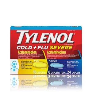 Tylenol 综合症状感冒药,日+夜,共24粒