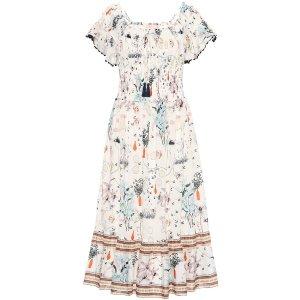 Tory BurchMeadow Folly cotton midi dress