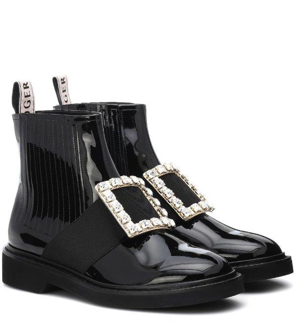 钻扣马丁靴