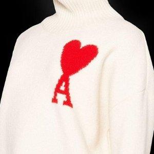 5折起 大心心T恤$110Ami 法风美衣全线好价 男女多款毛衣针织$469起