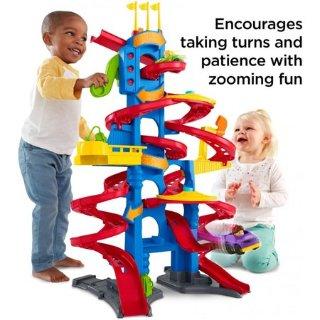 $26.84史低价:Fisher-Price 立体多弯道大型滑梯玩具